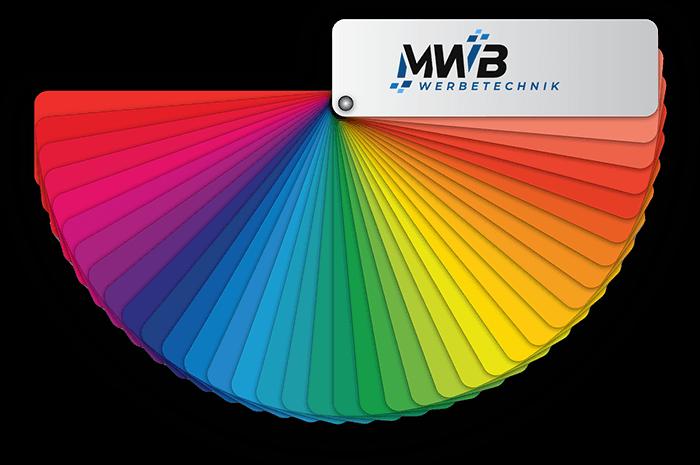 MWB Werbetechnik - Farbpalette